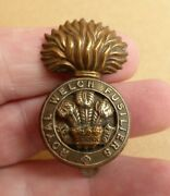 Ww1-ww11 Royal Welch Fusiliers Hat Cap Badge Super Example