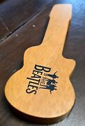 Beatles Limited Edition 22cm Wooden Watch Case Only Guitar Shape Collectible