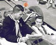Jim Clark Lotus Ford Test Session Roger Mccluskey Indy 500 8 X 10 Photo 13