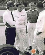 Jim Clark Lotus Ford Test Session Colin Chapman Indy 500 8 X 10 Photo 10