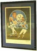 Johnny Unitas Framed Autographed Christopher Paluso Colts Lithograph