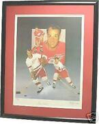 Gordie Howe Framed Autographed Limited Edition Lithograph Christopher Paluso