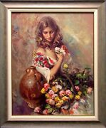 Royo Sentimiento Signed Color Serigraph On Panel Custom Framed Submit An Offer