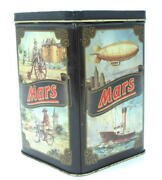 Usa Candy Mars Lovely Litho Vintage Tin Container