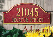 Whitehall Admiral Address Marker Standard-size Sign 17 Colors And 2 Mount Choices
