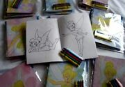 Lot 12 Disney Tinkerbell Coloring Book Crayon Party Set Girl Birthday Favor Gift