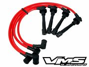 Vms 86-89 Acura Integra D16a1 Dohc Engine 10.2mm Racing Spark Plug Wires Red