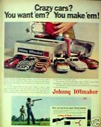 1968 Topper Johnny Toymaker Mold Big Model Cars Now Eagle Toy Gun Paper Promo Ad
