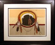 Larry Fodor Crow Shield Signed Hand Colored Lithograph Artwork Make An Offer