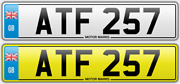 Atf 257 Private Number Plate Adam Adrian Angela Andrew Aaron Alison Amber Atf