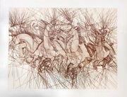 Guillaume Azoulay Embuscade Etching 1981 Hand Signed Fine Art Horse Make Offer