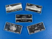 Great Us Mines Silver Proof Set 1968 By Wh Foster Walla Walla Wash 5-3oz Bars