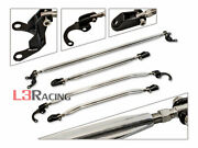 Upper And Lower Strut+tie Bar 4 Combo For 88-91 Honda Civic/crx All Chassis Model