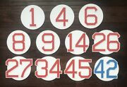 Boston Red Sox Fenway Park Retired Numbers Photo Poster Ticket Jersey Bat Ball