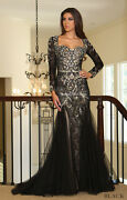 Red Carpet Long Sleeves Evening Formal Gown Pageant Unique Prom Dance Dresses
