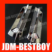 Universal Euro Style Chrome Side Vent Car Air Flow Fender Porthole Cover Intake