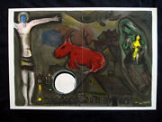 Marc Chagall Christ On The Cross Lithograph Inv985