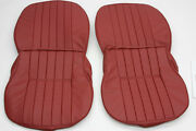 Porsche 356 A/b/c Leather Front Seat Cover Set For Coupe Cabriolet Roadster
