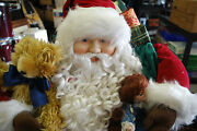Santa Claus With Toy Bag Christmas Holiday Collectable Figurine - 4 Feet Tall