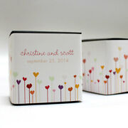 100 Hearts Printed Favor Boxes Wedding Favors