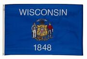 5x8 Poly Wisconsin State Flag Wisconsin State Banner 5x8 Wi State Flag Us Made