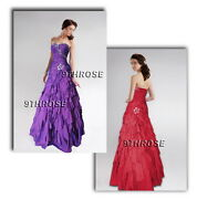 Belle Of The Ball Beaded Evening/prom/formal/bridesmaid Dress With Petal-skirt
