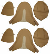 New Jaguar Xke E-type Si 3.8 Leather Bucket Seat Cover - Biscuit Tan Leather