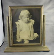 Antique Wooden Swing Picture Frame The Golden Rule St Paul Victorian Little Girl