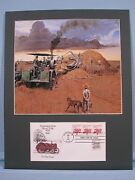 Using A Tractor To Harvesting The Wheat Crop And Tractor First Day Cover
