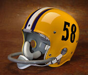 1958 National Champions Lsu Tigers Authentic Gameday Football Helmet