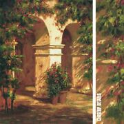 35wx47h Monastery By Roger Williams - Realistic Garden Entrance Flowers Canvas