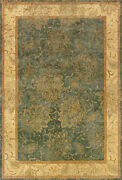 9x13 Sphinx Wool Hand Knotted Green Leaves 19107 Rug - Approx 9and039 3 X 13and039 3