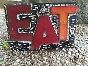Outsider Art By Michael D. Hurley Eat, Using Vintage Movie Marquee Letters