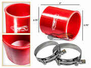Red 2.75 70mm 3-ply Silicone Coupler Hose Turbo Intake Intercooler Chev2