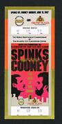 1987 Full Boxing Lg Ticket Michael Spinks Vs Gerry Cooney Nearmint Championship