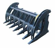 New 74 Heavy Duty Root Rake Grapple Skidsteer Attachment W/teeth Free Shipping