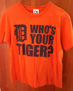 Detroit Tigers Youth T Shirt Tee Xl Whoand039s Your Tiger Baseball Gary Sheffield