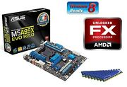 Amd Fx-8320 Eight Core X8 Cpu Asus Motherboard 32gb Ddr3 Memory Ram Combo Kit