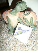 New Cute Adorable Hand Crafted Cast Art Animal Attraction Turtle Doves 93 Vntge