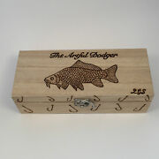 Wooden Fishing Tackle/float Box Personalised Free With 5 Free Floats Perch,pike