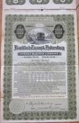 1910 Trolley Gold Bond Certificate-frankford Tacony And Holmesburg Street Railway