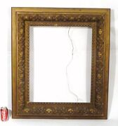 Large Deep Antique Victorian Picture Frame 1880and039s Wood And Gesso 39x 34