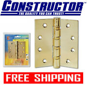 Constructor Door Hinge Ball Bearing Polished Brass 4 X 3.5 Discount On Multi