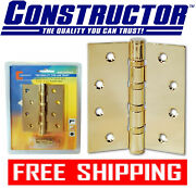 Constructor Door Hinge Ball Bearing 4 X 3 Polished Brass Discount On Multiple