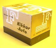 Nikon Nikkor-p Auto 105mm 125 Lens In Mint Condition With Bubble Cap And Box
