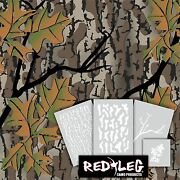 Redleg Camo Andtrade Fall Woods Camo 4 Piece Stencil Kit Duck Boat