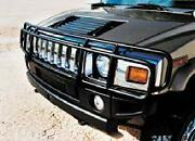 Fits 03-09 Hummer H2 Sut Double Hunter Grille Brush Grill Guard In Black