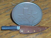 Dollhouse Miniature Western Cowboy Brown Bowie Knife 112 Right Point Alamo