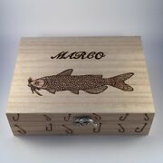 Fishing Tackle/float Box With 10 Floats Personalised Gift Xmas Fathers Day