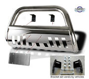 2002-2006 Chevy Avalanche Chrome Push Bumper Bull Bar In Stainless Steel Bumper